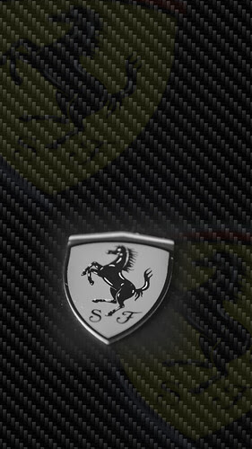Ferrari Pin on Carbon Fiber
