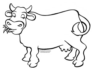 Sweet image in printable cow