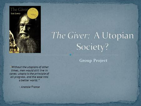 The Givers Dystopia Total Equality And No Humanity