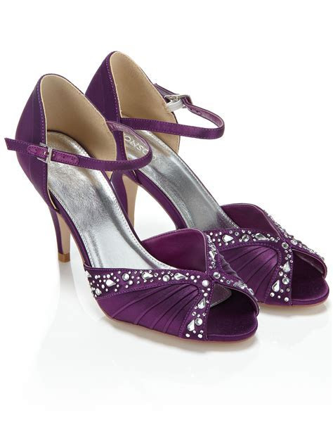 Low Heel Purple Dress Shoes   Heels Zone