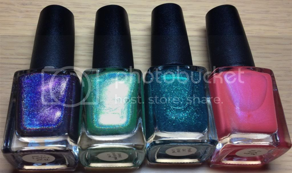CbL Colors by Llarowe Nail Mail True Colors, Young Grasshoppa, Fresh Cut Grass and Melon Wine
