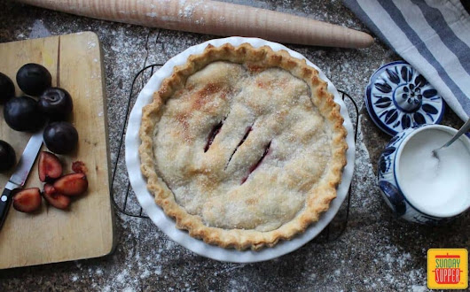 Perfect Plum Pie from Art of the Pie® by Kate McDermott #SundaySupper