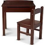 Melissa and Doug Wooden Lift-Top Desk & Chair - Espresso