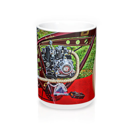 Indian Bicycle Motorcycle Mug 15oz – BlueMorningExpressions