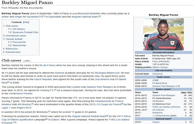 Menjaring pemain berbakat biasanya dilakukan lewat sebuah tabrak uji coba atau pemantauan se Barkley Miguel Panzo Mengotak-atik Wikipedia, Hingga Mengecoh Klub Panevezys yang Ingin Merekrutnya