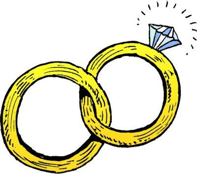 Image: Joined Wedding Rings   Christian Wedding Clip Art