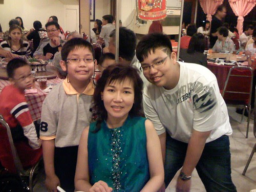 4th Auntie and her two kids