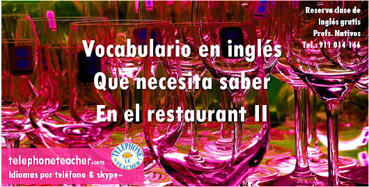 Vocabulario para el restaurant II