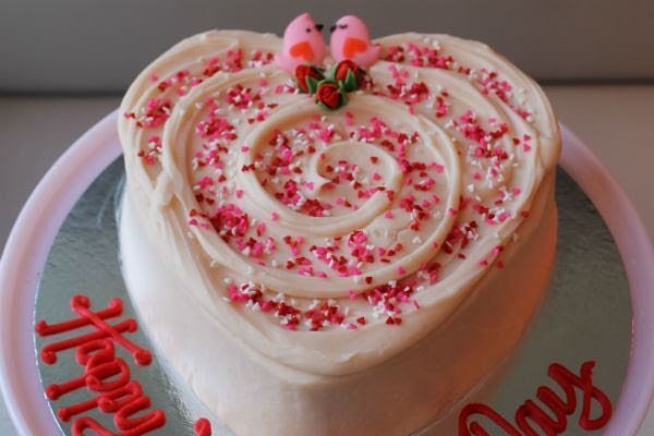 Valentines Day Heart Shaped Cake