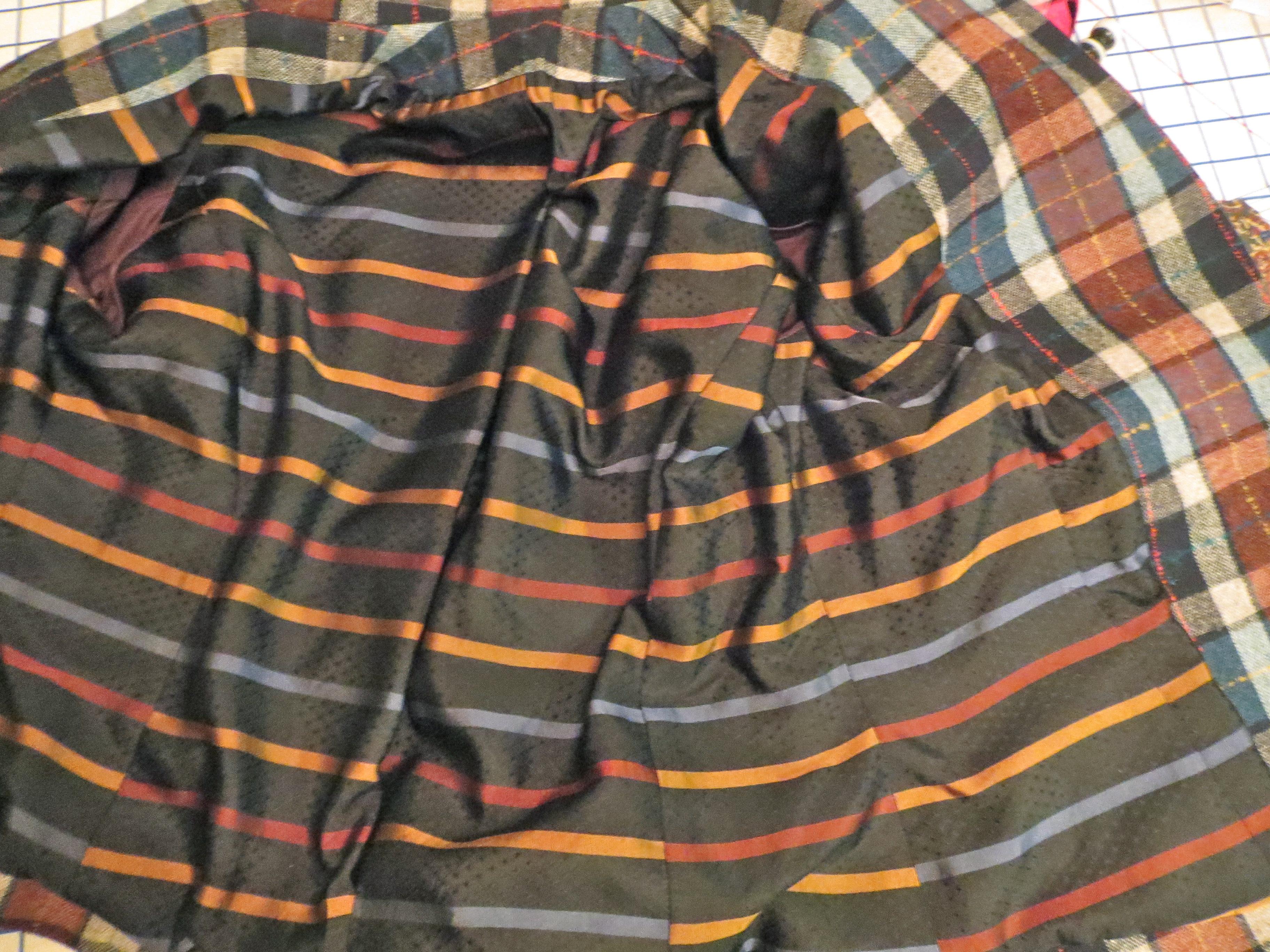Striped Silk Lining