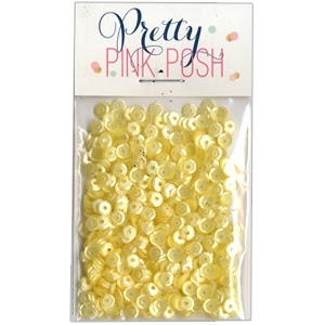 Pretty Pink Posh 4MM LEMON MERINGUE Cupped Sequins