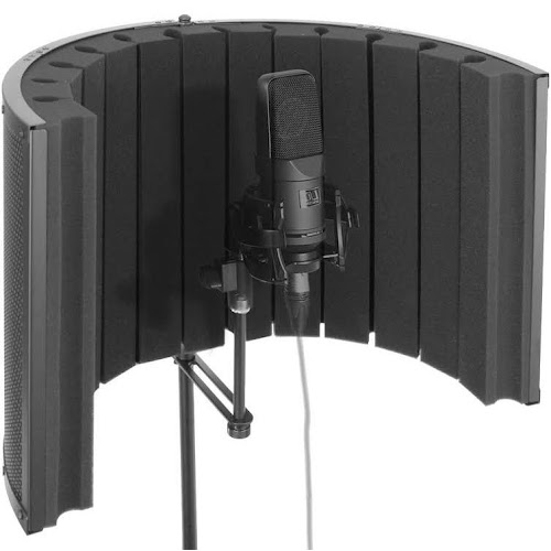 Pyle PSMRS09 Microphone Isolation Shield - Vocal Booth & Studio Recording Acoustic Panel