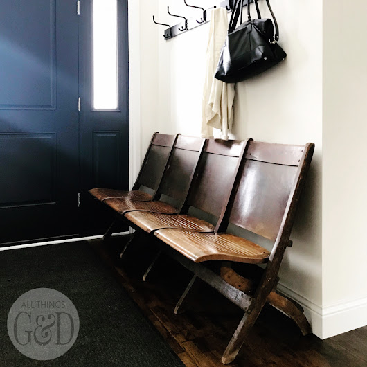 Entryway Antique Church Bench - All Things G&D