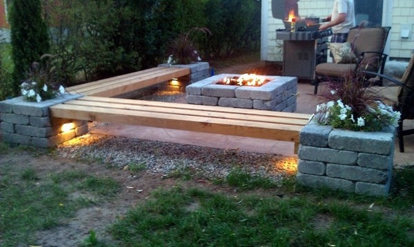 Modern patio decorating - awesome DIY propane fire pit ideas