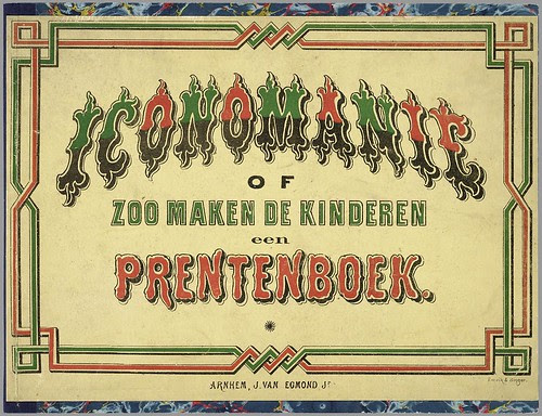 Iconomanie of Zoo maken de kinderen een prentenboek published by J. van Egmond, 1869