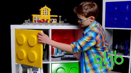 The QLIB - give your IKEA shelves a colorful LEGO makeover