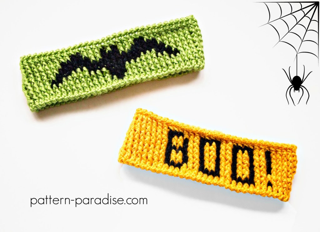 Halloween Graph Headbands by Pattern-Paradise.com