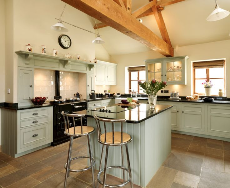 Harvey Jones kitchen in Farrow & Ball 'French Grey'