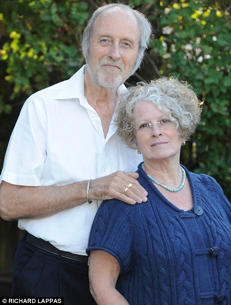 Fresh hope: Michael Charter and his wife Ingka. He is having hyperbaric oxygen therapy to counter the adverse effects of radiotherapy
