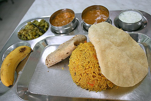 Briyani set (all vegetarian, of course)
