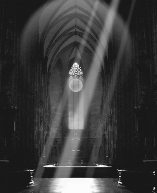 WHAT DO YOU SEE? DO YOU SEE A CHAPEL? DO YOU SEE A DARK ROOM? DO YOU SEE RAYS OF LIGHT? OR DO YOU SEE EVIL WAITING TO POUNCE ON ITS NEXT VICTIM? I BET YOU CAN GUESS WHAT I SEE? COME ON VICTIMS, LINE UP.