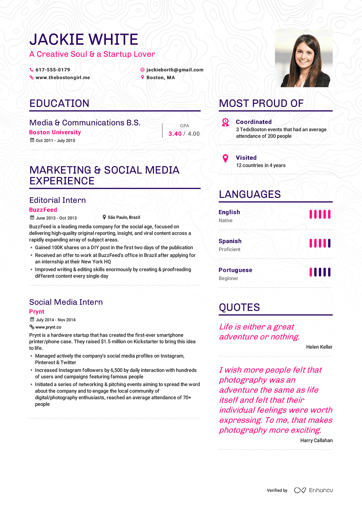 resume jackie white 1