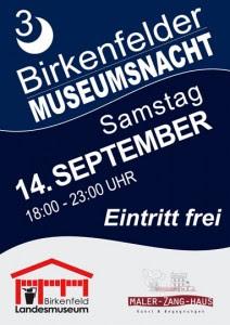 Plakat Museumsnacht 2013 am Samstag 14.09.2013 18 bis 23 Uhr - Eintritt frei