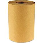 Boardwalk Hardwound Paper Towels, Nonperforated 1-Ply Kraft, 800ft, 6 Rolls/Cart