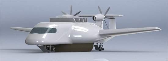 Aeronave híbrida é misto de tudo o que voa