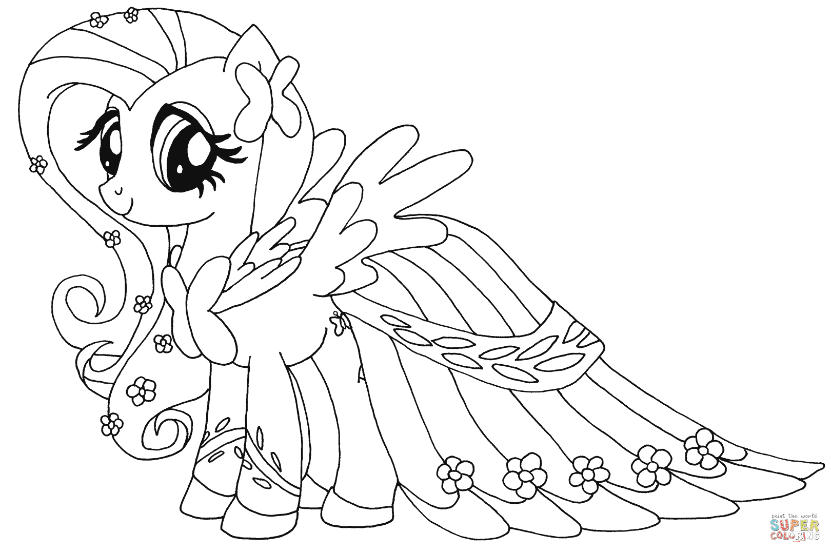 Häufig My Little Pony Chibi Pegasus Girl Coloring Page My Little Pony XB07
