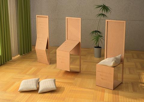 biombo Biombo que se convierte en silla