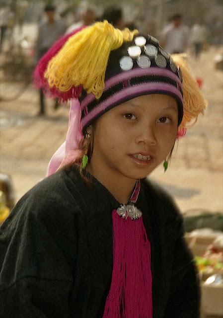 Hani Girl Mengla Xishuangbanna Region Yunnan China