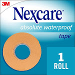 Nexcare Absolute Waterproof First Aid Tape, Tan, 1 in x 5 yds