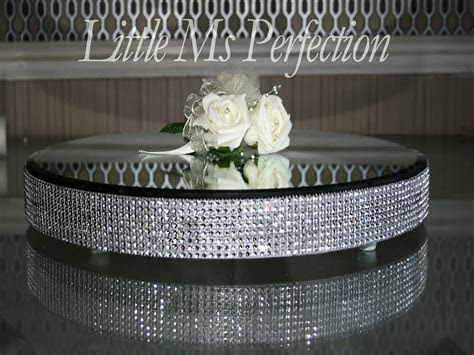 DIAMANTE CRYSTAL MIRROR PLATE   CAKE STAND   WEDDING TABLE