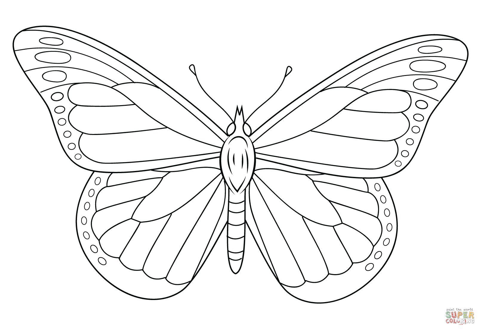 8800 Top Coloring Page Butterfly Monarch  Images