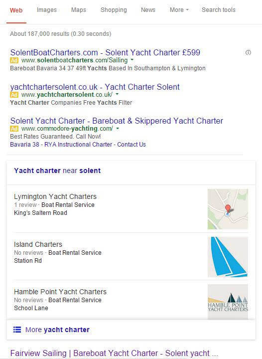 Google Local Pack Displaying Logos In Web Search Results
