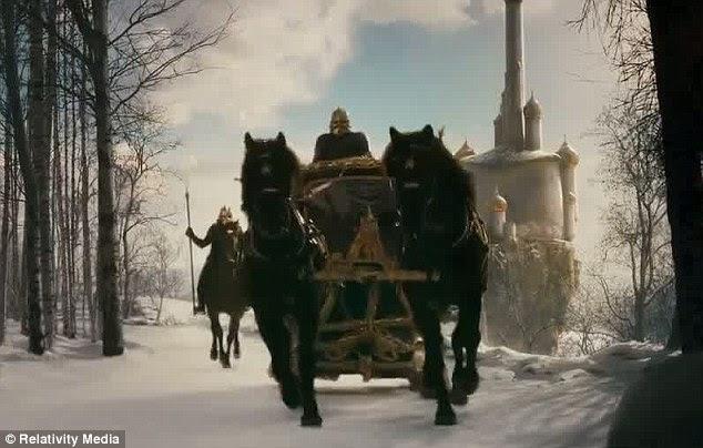 Épica: O pano de fundo mágico parece uma cena de um dos filmes Narnia
