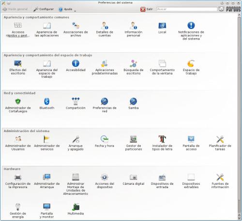 Pardus 2011 Preferencias del sistema de KDE 500x457Un repaso a Pardus 2011
