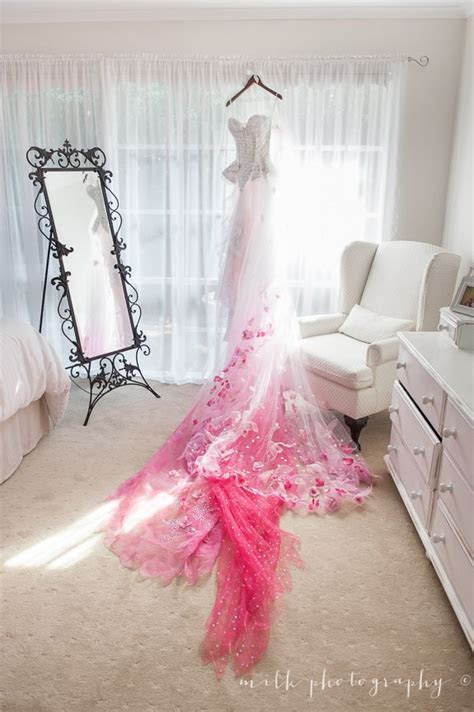 Ombre Pink and White Wedding Dress. For more of our