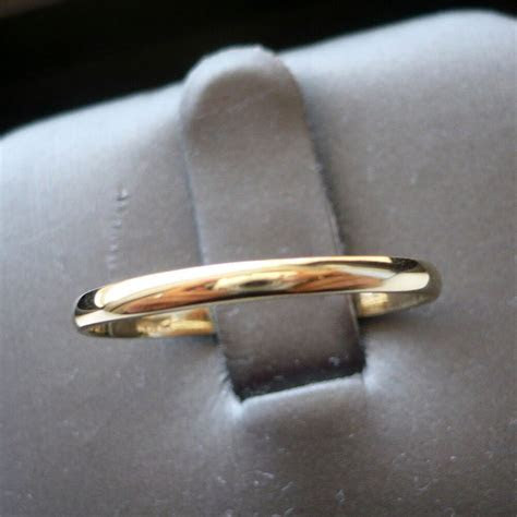 2mm 10K SOLID YELLOW GOLD WOMEN'S THUMB/ WEDDING BAND RING