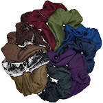 threddies Cotton Scrunchies (Dark Colors Assortment), 10 Piece Pack