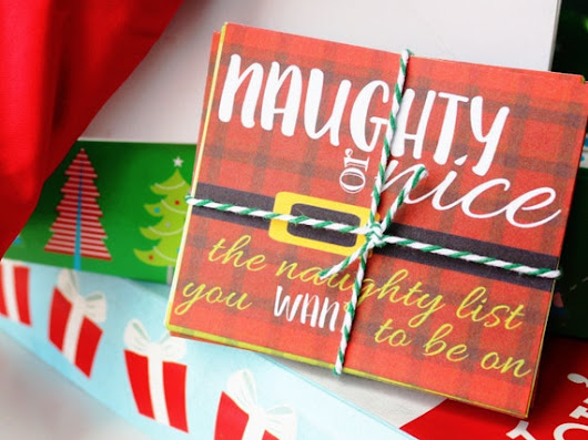Naughty or Nice Coupons for Couples Stocking Stuffer for