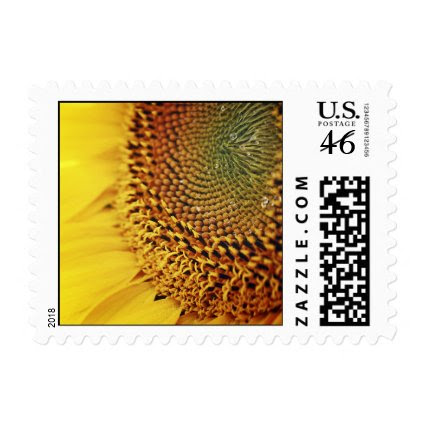 Fresh and Golden Sunflower Postage
