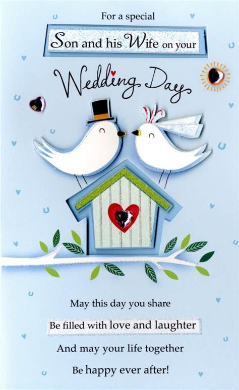 Son & Wife Wedding Day Greeting Card   Cards   Love Kates