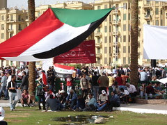 Palestinian Flag at Tahrir square