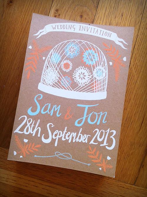 Sam and Jon Wedding Invitation
