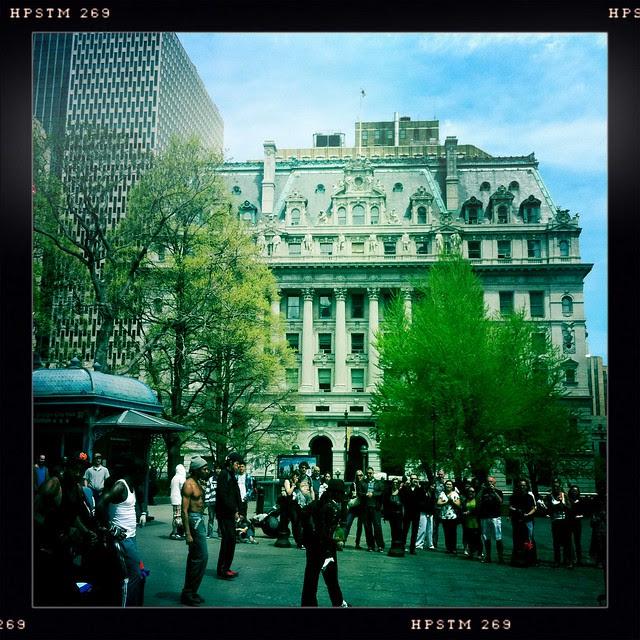 dancers, City Hall Park