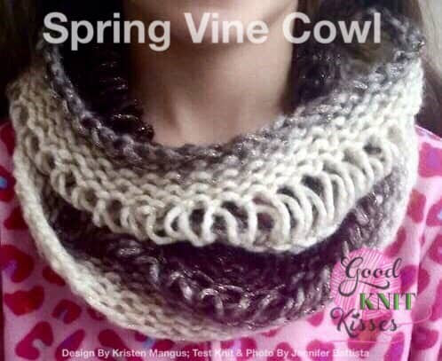 Drop Stitch Cowl | Loom or Needle - GoodKnit Kisses