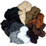 threddies Cotton Scrunchies (Neutral Assortment), 10 Piece Pack
