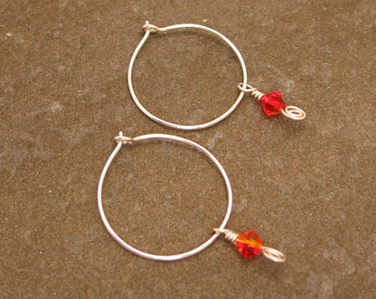 Handmade Sterling Silver Hoop Earrings With by HyperspaceHippo